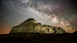 castle butte milky way night photo