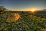 Grasslands National Park Camping Sunset ODA